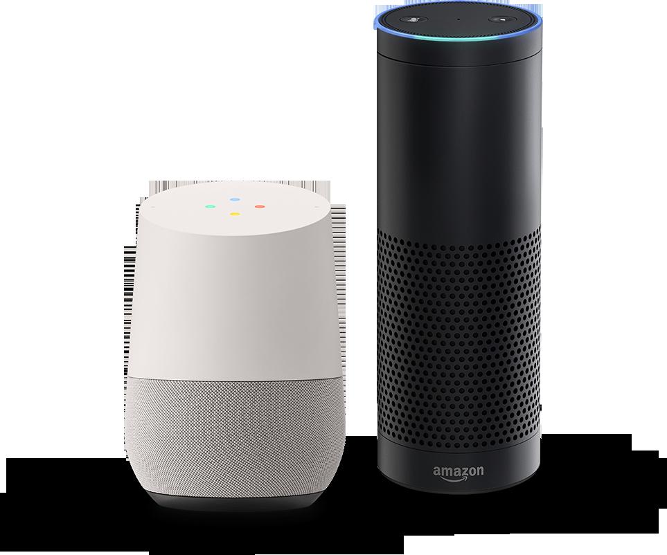 Image of Amazon Alexa and Google Home