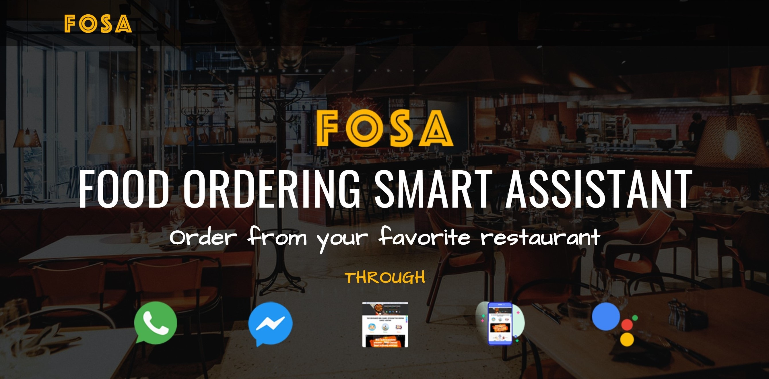 Omni Channel Restaurant Food Ordering Smart Assistant