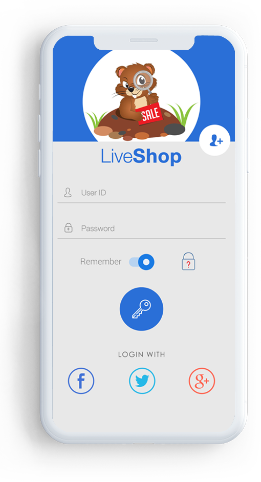 Card image for LiveShop ecommerce app