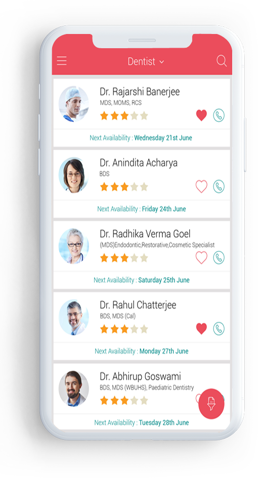Card image of Suraksha mobile medical application showing doctor profiles