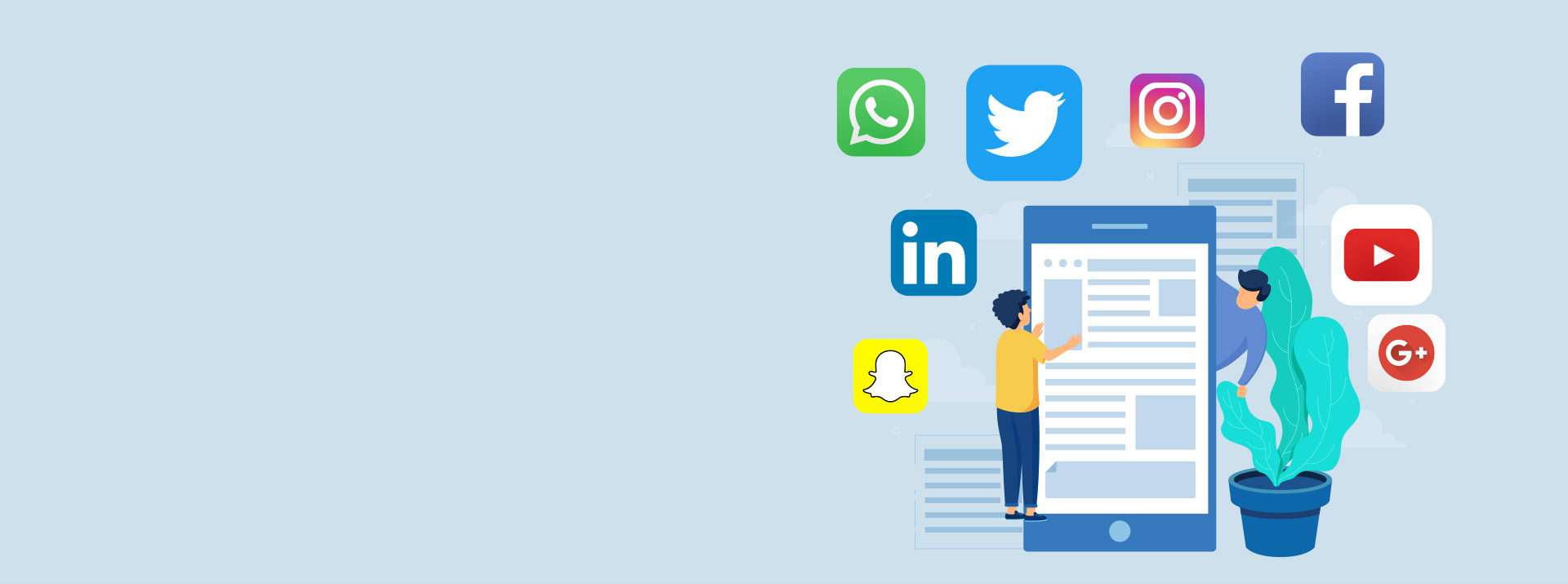 Banner image for social media and dating app development services