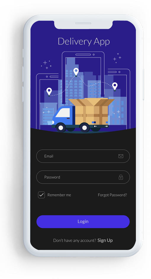 Card image of cargo delivery app
