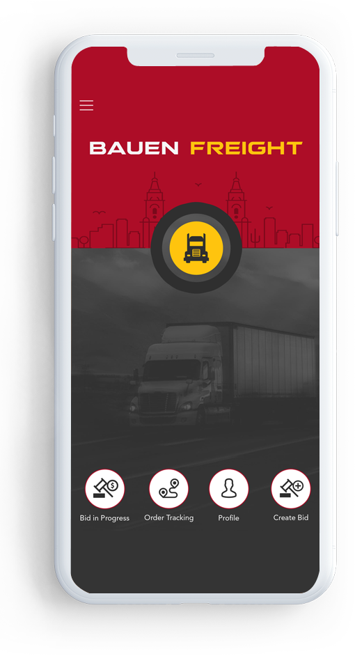 Card image of Bauen Freight cargo delivery app
